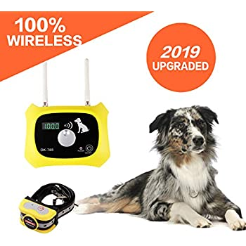 Amazon Com Wireless Dog Fence Electric Pet Containment