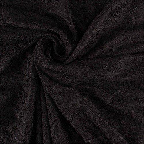 Allonly Femmes Mini Dentelle Évider Robes De Robe Trench Plissé Partie Fille Noire