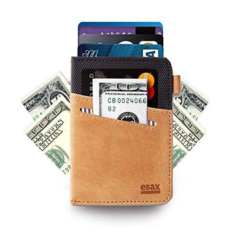 Minimalist Slim Wallet- Front Pocket Credit Card Holder with Cash & - Surf Wallet Shorts