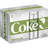 Diet Coke Ginger Lime Soda Soft Drink, 12 fl oz, 8 Pack