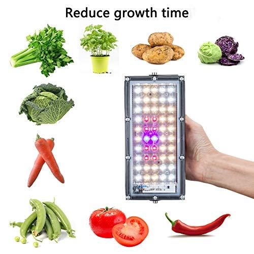 LED Grow Light, Plant Grow Lights for Indoor Plants Full Spectrum Panel Growing Lamp for Seedling Veg and Flower