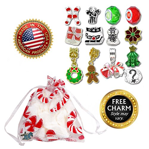 European Charm Bracelet Charms and Beads For Women and Girls Jewelry, Christmas Holiday by Timeline Treasures (Image #2)