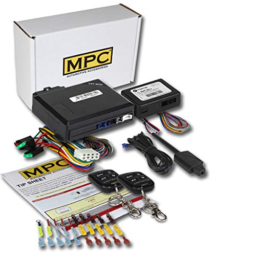 MPC Complete 4-Button Keyless Entry Remote Start Kit for 2000-2005 Pontiac Grand Am - with Bypass - Firmware Preloaded