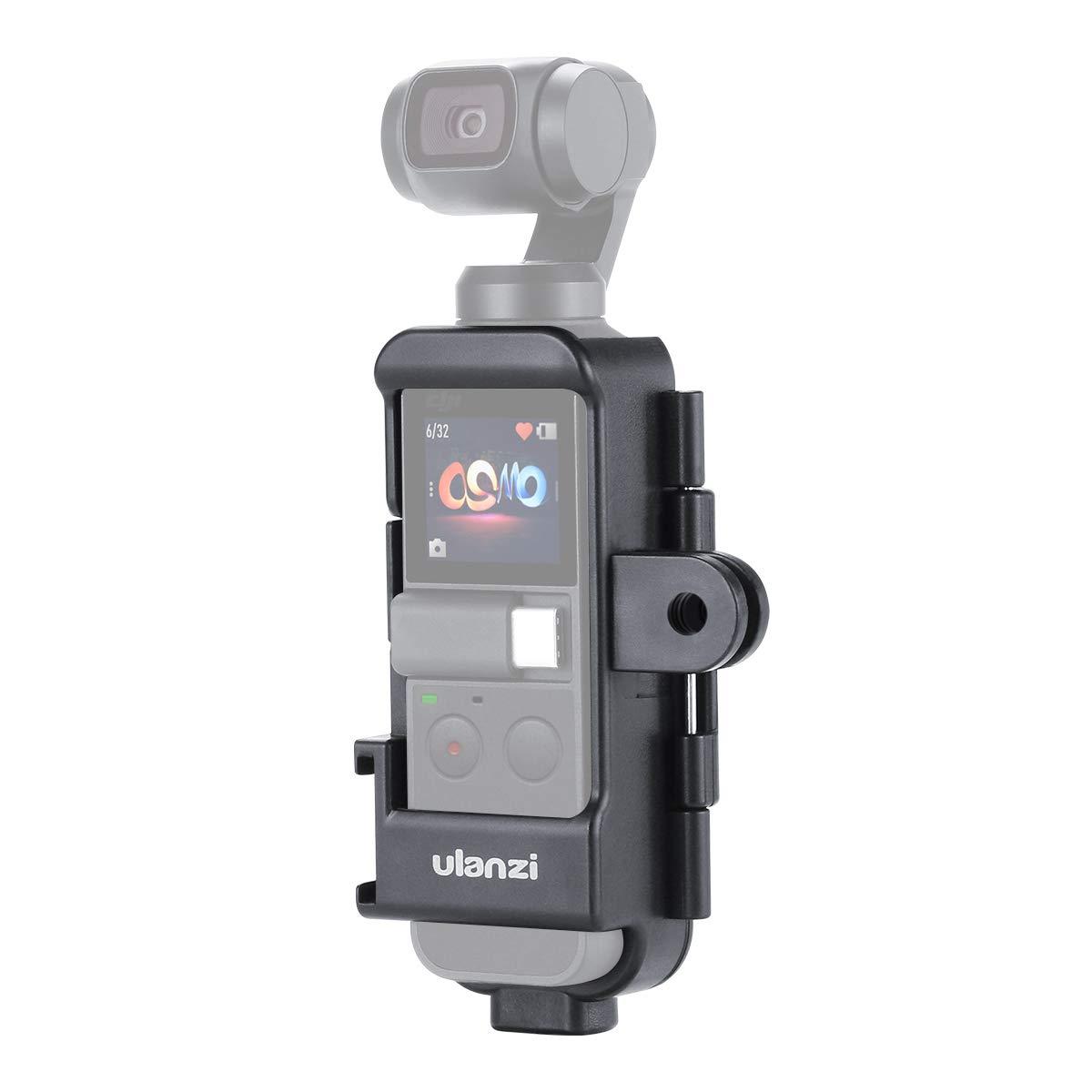 OP-7 OSMO Pocket Vlog Caja de Carcasa Extendida Acci/ón Tr/ípode w Soporte de Zapata Fr/ía Compatible para dji Osmo Pocket Caja de Soporte Multifuncional con Micr/ófono 3 Interfaz Gopro 1//4