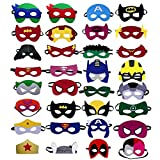 Superhero masks – Super hero party favors for kids, and birthday supplies 32 set for kids party