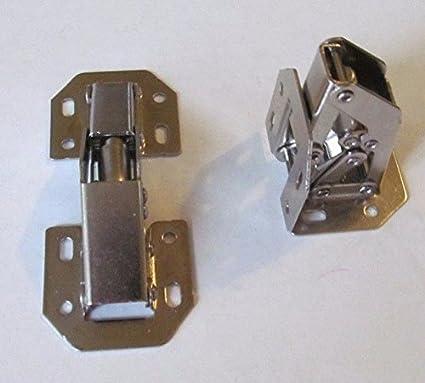 Genial Hu0026H 2 Nickel Plated Self Closing 90 Degree Surface Mount Spring Loaded Cabinet  Hinge