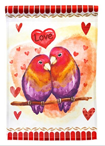 Seasonal Accents Love Birds Garden Flag; 12 inches by 18 inches