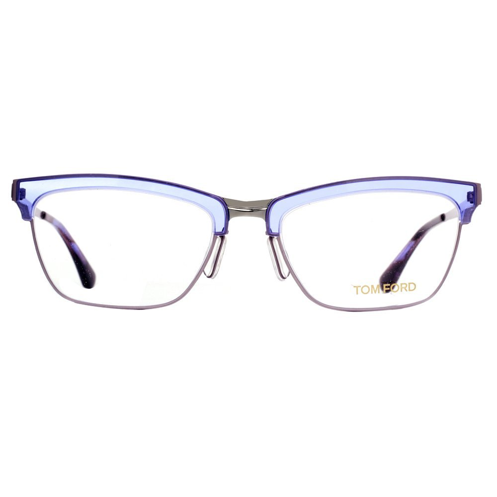 4e5531d9f48 Tom Ford Rx Eyeglasses - FT 5392 080 - Matte Ruthenium Lilac (54 18 135) at  Amazon Men s Clothing store