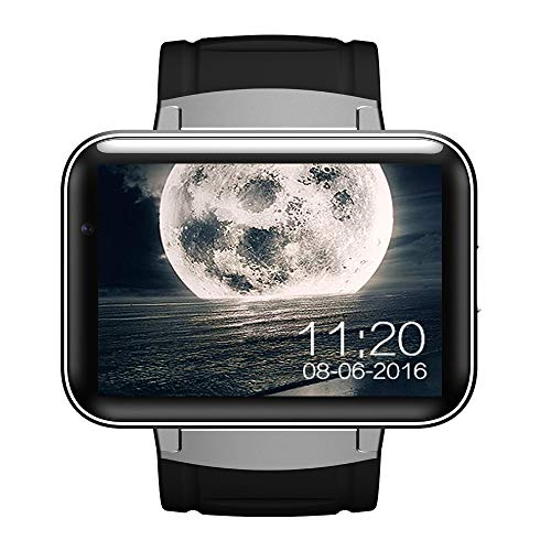 - SanQing Android Smart Watch with Large Touch Screen Quad-core GPS WiFi 3G Camera SIM Card Anti-Lost Support Video Call Fitness Watch Men and Women Mobile Phone,A