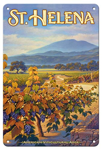 LHZJ Fashionable St. Helena Wineries - Collins Holystone Vineyards by Kerne EricksonWall Sign 8X12 inches Metal tin Sign