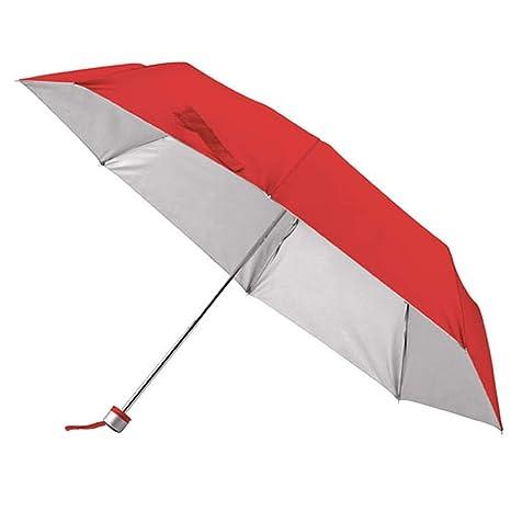 Paraguas Plegable Rojo. Versátil y Compacto. Perfecto para Hombres y Mujeres