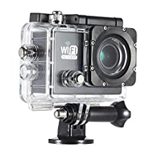 """Andoer Full HD Wifi Action Sports Camera DV Cam 2.0"""" LCD 12MP 1080P 30FPS 140 Degree Wide Lens Waterproof for Car DVR FPV PC Camera Diving Bicycle Outdoor Activity"""