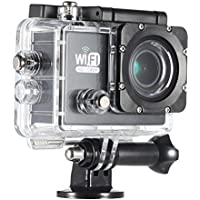 Andoer LHG5038554418098EZ Wi-Fi Action Sports Camera DV Cam Full HD 2.0 LCD 12MP 1080P 30FPS 140 Degree Wide Lens Waterproof for Car DVR FPV PC Camera Diving Bicycle Outdoor Activity