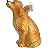 Old World Christmas Sitting Golden Glass Blown Ornament