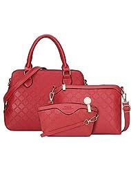 YipGrace Sweet 3 Bag/Set Women Bag Plaid Femal Shoulder Bag Lady Messenger Bag With Purse Composite Bag