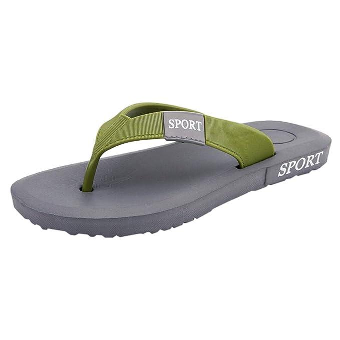 Sandalias de Hombre,PANPANY Playa Zapatos Sandal Casual de Planos Chanclas Ligeras Zapatillas de Antideslizante Shoes Pellizcar Zapatos Durable Chanclas: ...