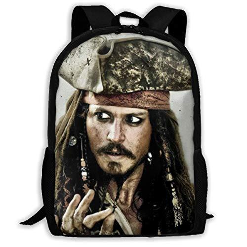Pirates Of The Caribbean Backpack - J-ack Spa-rrow Pir-ates Of The Cari-bbean