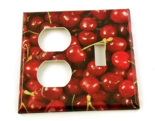 Toggle Outlet Combo Light Switch Plate in Cherries Jubilee (250TOC)