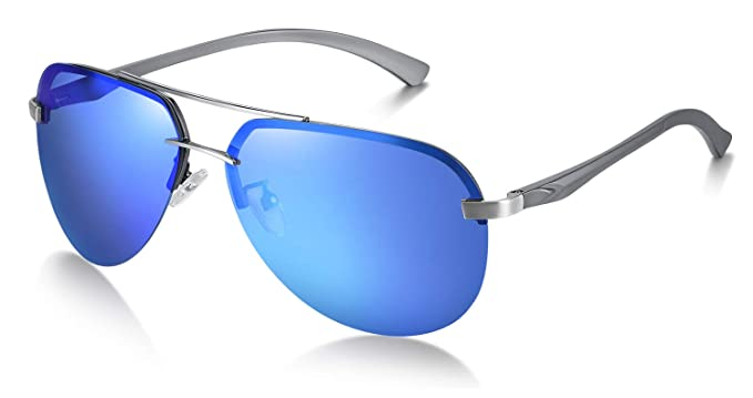 WHCREAT Gafas de Sol Polarizadas Estilo Piloto para Hombres ...