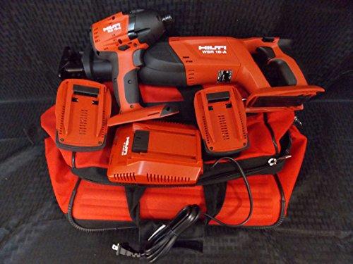 Hilti Set of 2, Heavy Duty Cordless 18V Reciprocating Saw (WSR 18-A) & 22V Impact Driver (SID 18-A)