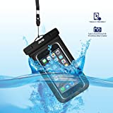 "Universal Waterproof Case, JOTO CellPhone Dry Bag Phone Pouch for iPhone 8/7/7 Plus/6S/6/6S Plus/SE/5S, Samsung Galaxy S8/S8 Plus/Note 8 6 5 4, Google Pixel 2 HTC LG Sony MOTO up to 6.0"" -Black"
