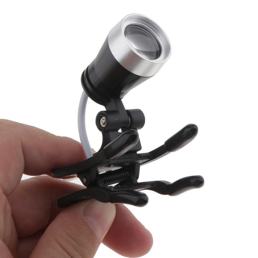 BoNew 3W Clip Clamp LED Head Light Lamp for Dental Binocular Loupes Glasses Tool by BONEW