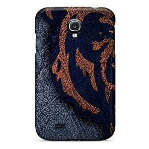 Anti-Scratch Hard Phone Covers For Samsung Galaxy S4 With Unique Design HD Chicago Bears Skin