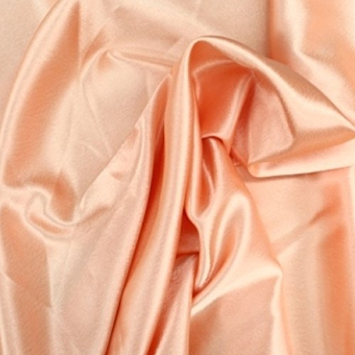 Charmeuse Bridal Satin Fabric for Wedding Dress 60 (1 YARD, Peach)
