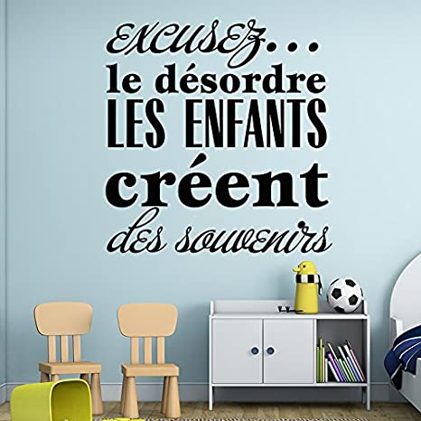 wall sticker quotes art design for the mess the children create
