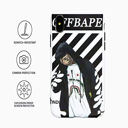 Kplvet iPhone X-Xs Case,Top Sleek Feeling Bendable Soft Durable Non Faded Anti Scratch Protective iPhone-Case for 5.8 Inches X Xs,iPhone Designer Street Fashion Basic Phone Cover(Shark Coat) ()
