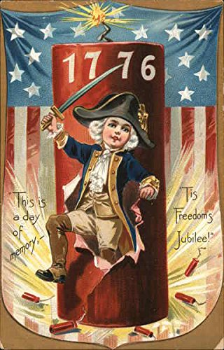 - This Is A Day Of Memory, - 'Tis Freedom's Jubilee! 4th of July Original Vintage Postcard