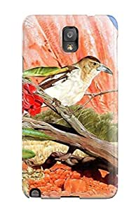 7454726K42219978 Snap On Case Cover Skin For Galaxy Note 3(birds Communicating)