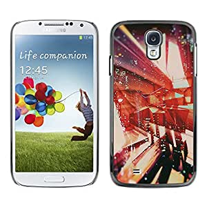 Paccase / SLIM PC / Aliminium Casa Carcasa Funda Case Cover para - Architecture Abstract Vignette - Samsung Galaxy S4 I9500