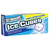 ICE BREAKERS ICE CUBES Chewing Gum, Peppermint, Sugar Free, 10 Piece Boxes (Pack of 8)