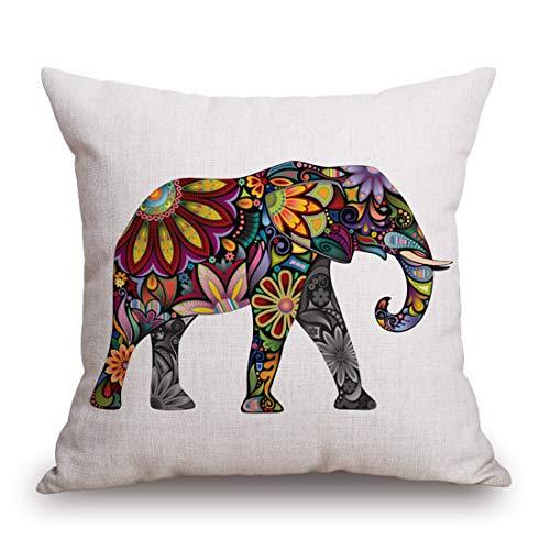 Kingla Home Square Pillowcase Cotton Linen Decorative Throw