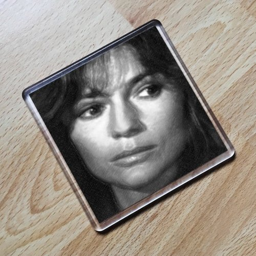 JAMIE LEE CURTIS - Original Art Coaster #js002]()