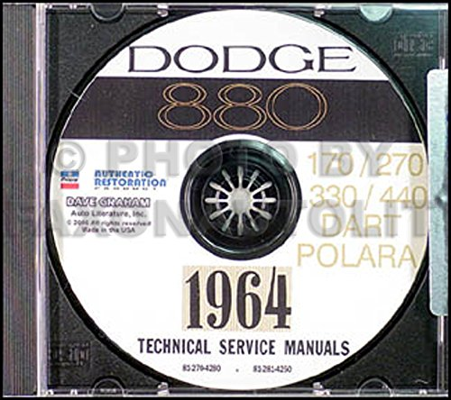 1964 Dodge CD-ROM Repair Shop Manual for 330, 440, 880, Dart, GT, & Polara Dodge Dart Restoration