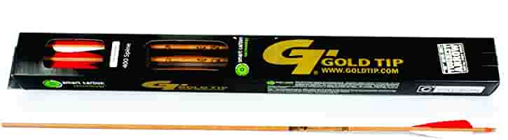Gold Tip Hunter XT 250 Arrows with 4-Inch Feathers 1-Dozen