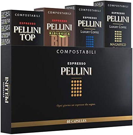 Pellini Caffè – Espresso Pellini Confezione Gift Box (mix multigusto da 40 Capsule), Livello di tostatura Medio, Compatibili Nespresso