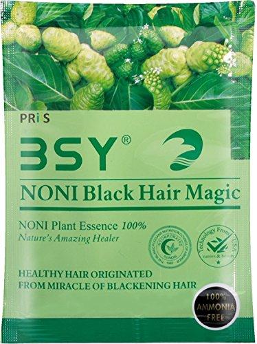 BSY NONI ORIGINAL Black Hair Magic - Hair Dye Shampoo 20ml Sachet-PACK OF 2's - Hair Dye Bowl Pack