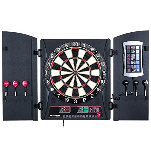 Bullshooter by Arachnid E-Bristle Cricketmaxx 3.0 Dartboard Cabinet Set by Arachnid