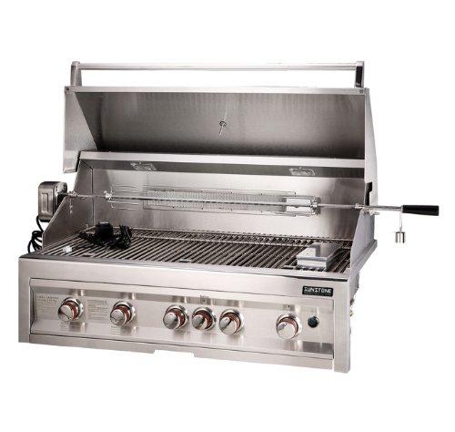 SUNSTONE SUN5B-IR-LP 5-Burner 42-Inch Infrared Propane Gas Grill Sunstone Metal Products LLC.
