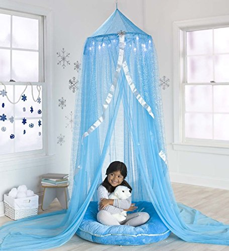 Snowflake Castle Hanging Play Tent for Kids Bedroom