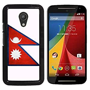 Paccase / SLIM PC / Aliminium Casa Carcasa Funda Case Cover - National Flag Nation Country Nepal - Motorola MOTO G 2ND GEN II
