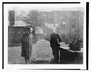 Historic Print (L): [Houdini at the grave of John Henry Anderson, Wizard of the North, Aberdeen, Scotland]