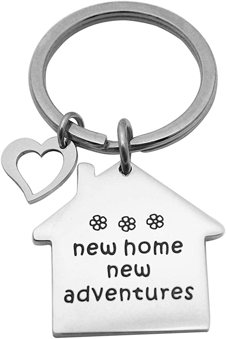 Beeshion Housewarming Gift Funny New Home Keychain New Homeowner Gift First Home Keyring