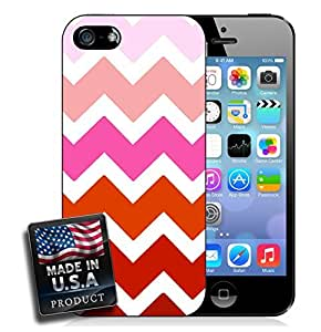 Colorful Ombre Chevron Red iPhone 5/5s Hard Case