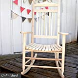 Standard Slat Porch Rocking Chair Unfinished