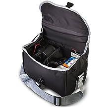 Zeikos ZE-CA58A Deluxe Soft Medium Camera Case For Canon Digital EOS Rebel SL1, T1i, T2i, T3, T3i, T4i, T5, T5i, T6i, T6s, EOS 60D, EOS 70D, 50D, 40D, 30D, EOS 5D, EOS 5Ds, EOS 5D Mark III, EOS 6D, EOS 7D, EOS 7D Mark II, EOS-M Digital SLR Cameras and NIKON D3000 D3100 D3200 D3300 D5100 D5200 D5300 D7000 D7100