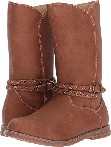 Hanna Andersson Girls' Kari Glitter Riding Fashion Boot, Brown, 10 M US Toddler